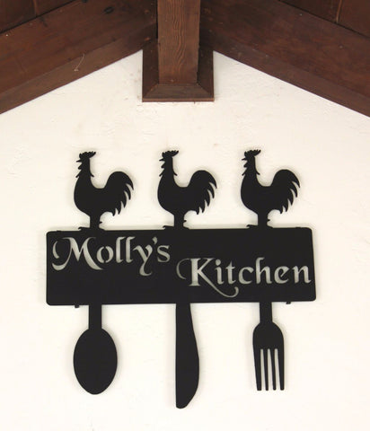 Country Kitchen Decor: Rooster Kitchen Decorations: Personalized Kitchen Decor