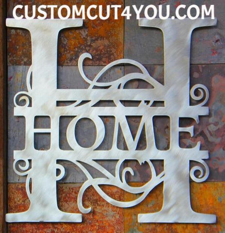 Exceptional Metal Vine Monogram Available Online | Customcut4you.com