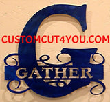 Unsurpassed Inspirational  Custom Initial Wall Decor or Family Name Sign