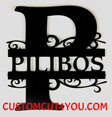 Best Choice Metal Monogram Initial Personalized With Last Name