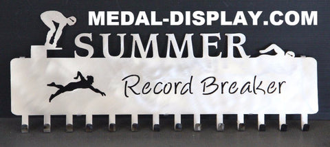 Swimming Medal Hanger: Swim Medal Holder: Swimming Medal Display