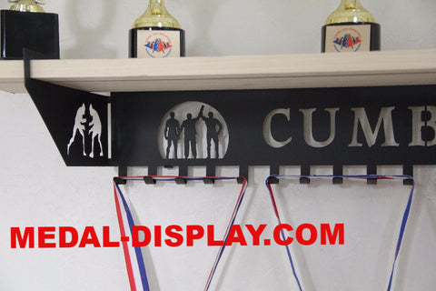 Personalized  Wrestling Trophy Shelf and  Personalized Medals Display:  Medals Holder