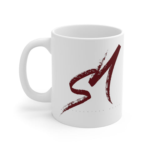 "White ""Brush Strokes"" Mug - SeventeenNorth"