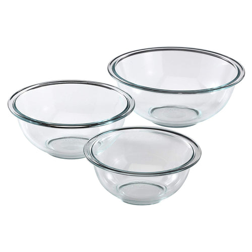 Pyrex Glass Mixing Bowls 3-Piece Set