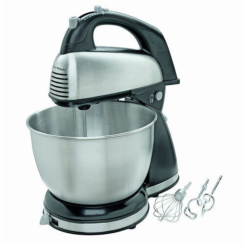 Hamilton Beach 6-Speed Stand Bowl Mixer Stainless Steel