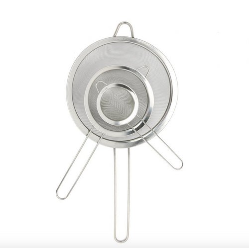 3-Piece Stainless Steel Strainer Flexible Filter - englandpoppyseeds