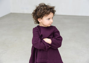 DARK AUBERGINE DRESS