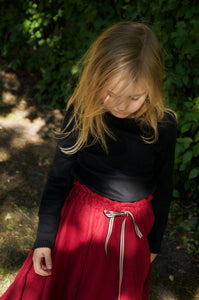 CHERRY COLOR SKIRT