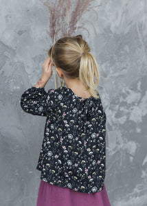 DARK FLORAL BLOUSE
