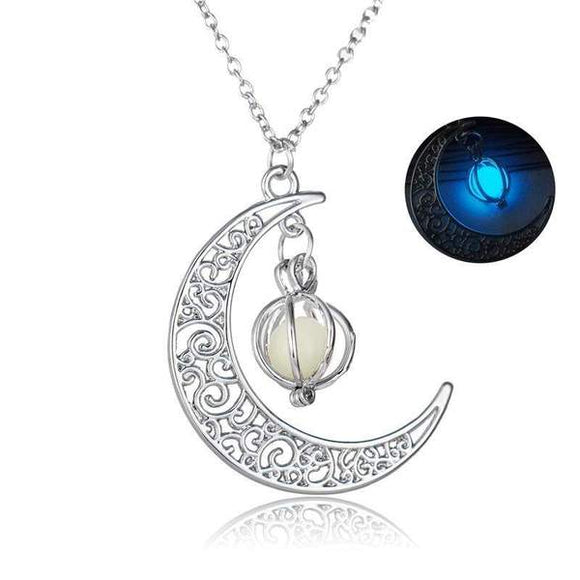 Crescent Moon Glowing Necklace - Mumeii Mimimalism Shop