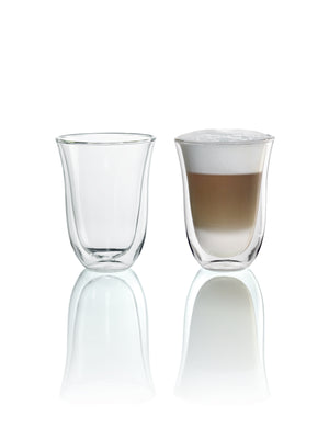 DeLonghi Latte and Latte Macchiato Double-Wall Glass Cups