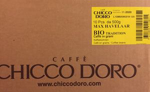 2 x Chicco d'Oro Organic and Fair Trade Beans - Case of 5 kg