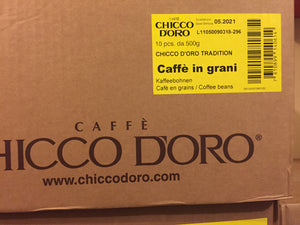 2 x Chicco d'Oro Tradition Beans Case of 5 Kg