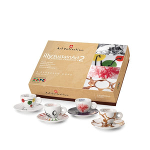 illy - Sustain Art Collection EXPO - Set of 4 Cappuccino Cups
