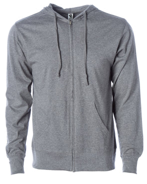 Lightweight T-Shirt Zip Up Jersey Hoodie