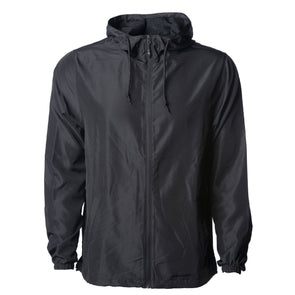 Lightweight Zip-Up Hooded Windbreaker