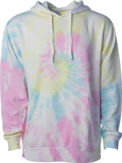 Midweight Tie-Dyed Pullover Hoodie