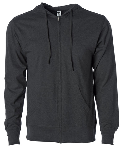 Men's Lightweight T Shirt Zip Up Jersey Hoodie