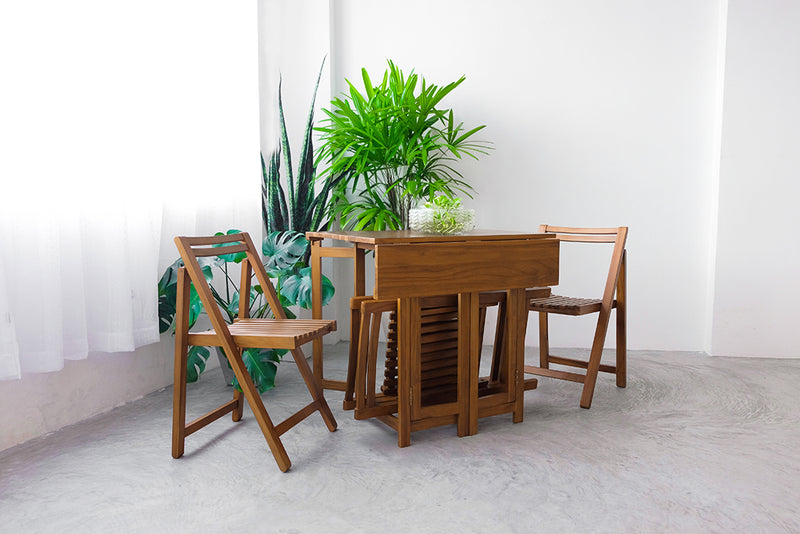 LYFT FOLDABLE DINING SET (1 TABLE + 4 CHAIRS)