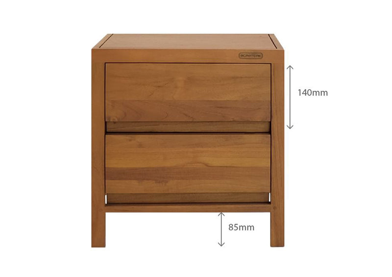 FIN BEDSIDE TABLE
