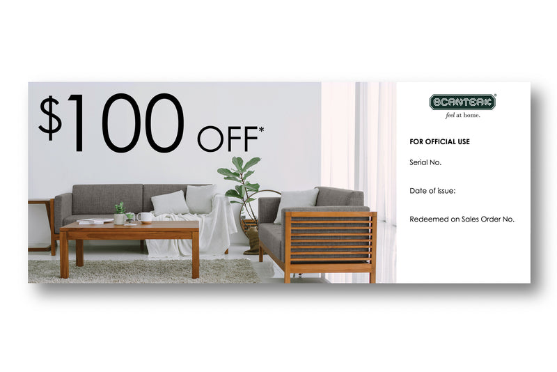 Scanteak $100 Voucher