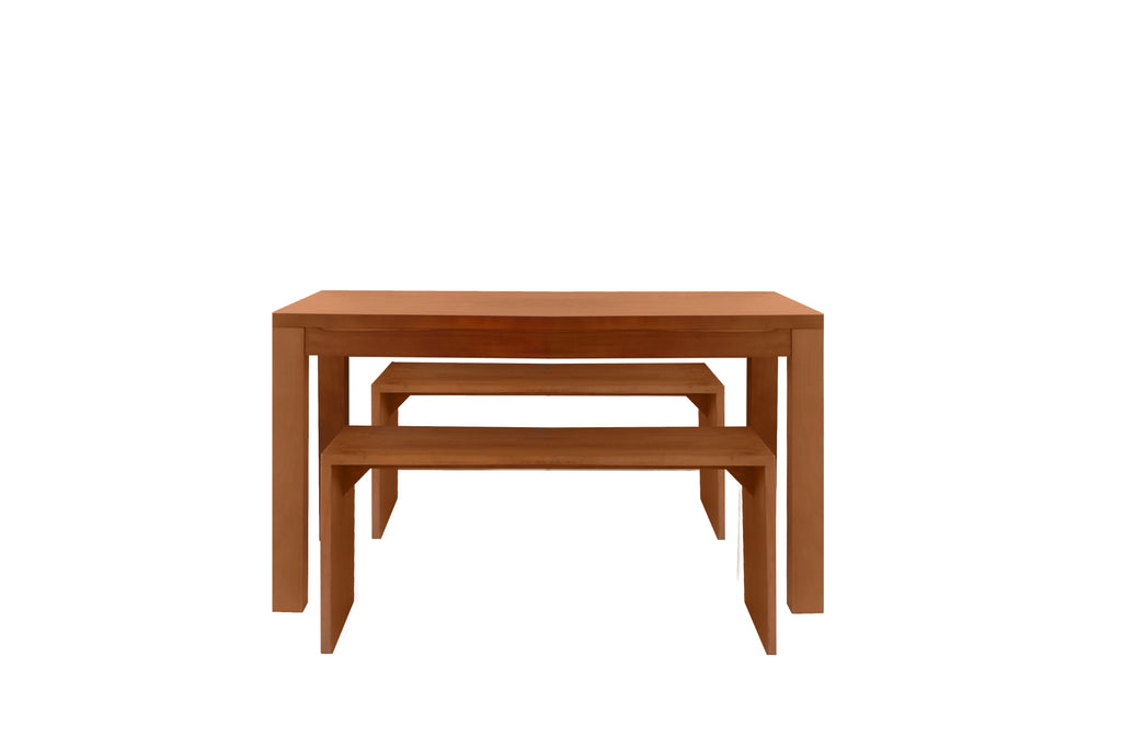 LOIS DINING TABLE 135CM BUNDLE (1 TABLE + 2 BENCHES)