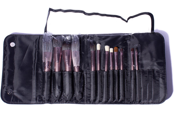 Full 12 Piece Brush Set - Pinky B Beauty