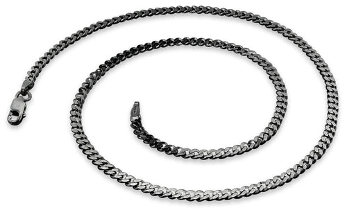 Black Rhodium Curb Chain