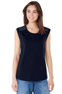 Women's Top, Navy