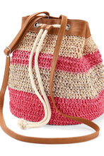 Load image into Gallery viewer, Women's Bucket Bag, Sand/Pink