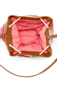 Women's Bucket Bag, Sand/Pink