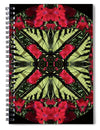 Monarch On Dianthus Kaleidoscope - Spiral Notebook
