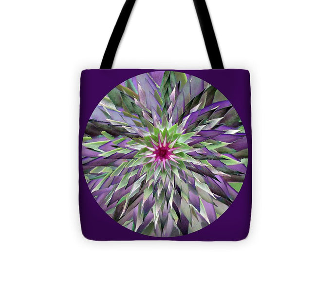 Red Star Thistle Kaleidoscope - Tote Bag