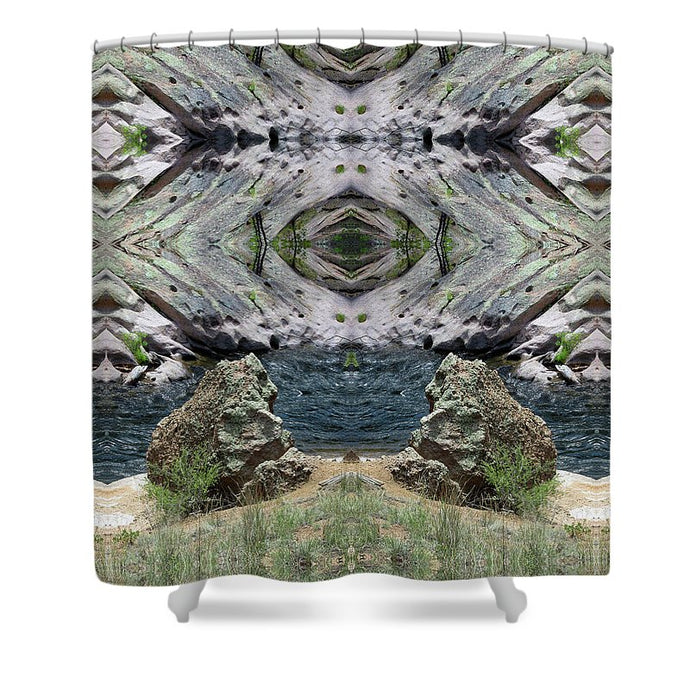 Reflections Of Self Before Entering The Vortex - Shower Curtain
