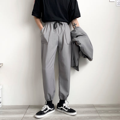 Straight beam adjustable loose fit casual pants in 3 colors