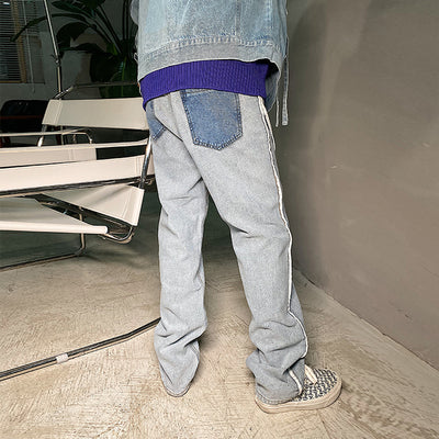 reverse design stitching trousers