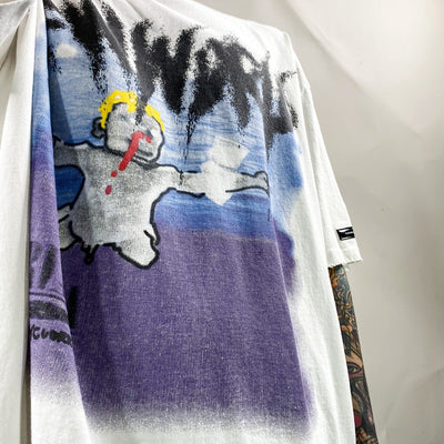 Nirvana band cartoon t-shirt band graffiti oversize tee