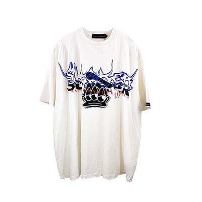 Drop sleeves Donald duck tee Cartoon print loose fit t-shirt