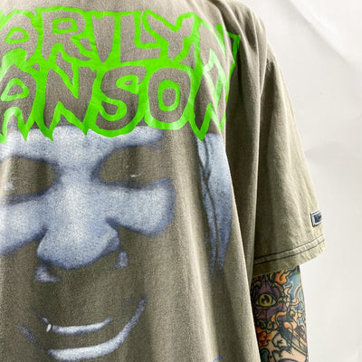 Marilyn Manson graphic print t-shirt rock star print tee