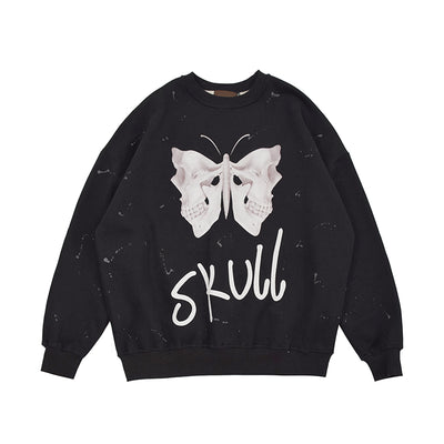 Dark Wind Butterfly Skeleton Sweatshirt