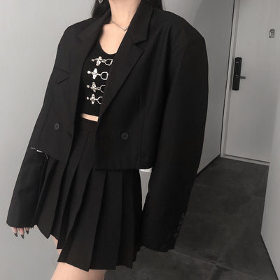 black short small suit spring jacket