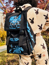 Original Homemade Retro Street Flame Large Capacity  Girl School Backpack