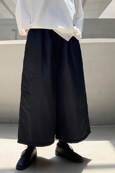 Extremely flare dark black straight wide leg smart trousers