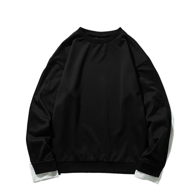 split sleeve finish unusual loose boxy fit sweatshirt available in 2 colors