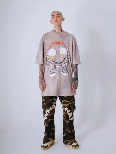 printed loose half-sleeved t-shirt