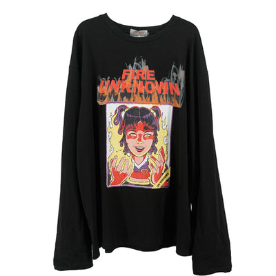printed loose autumn long-sleeved T-shirt