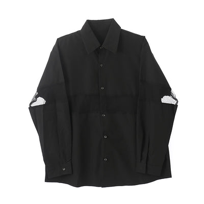 stitching western square collar style shirt