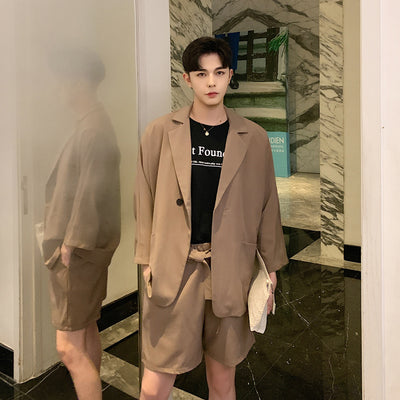 Unusual smart  jacket and shorts  set in 3 colors