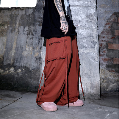 multicolor wide leg OVERSIZE washed pants