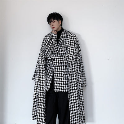 houndstooth thick unusual suit blazer jacket